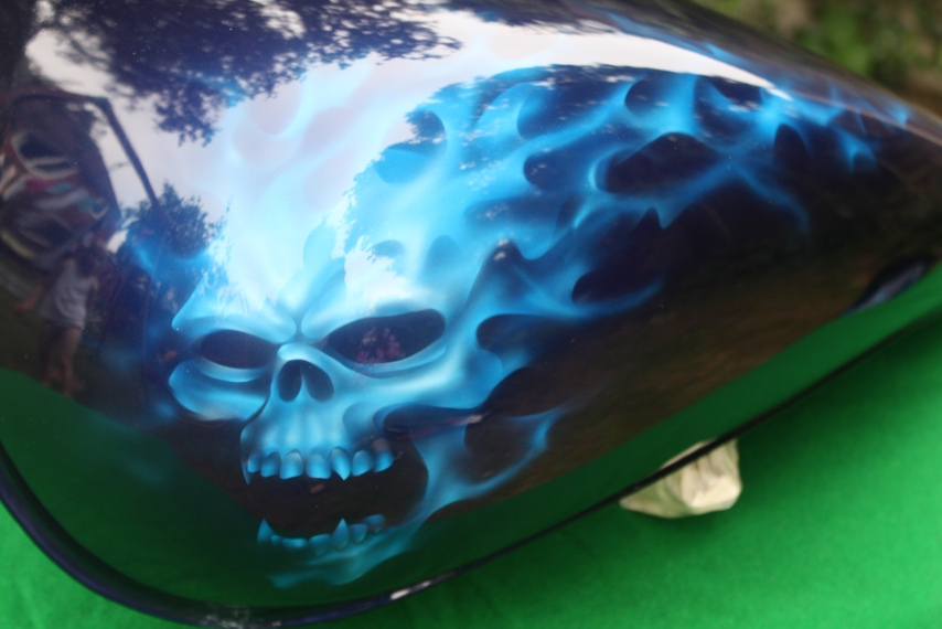 blue flames skull flame - photo #15